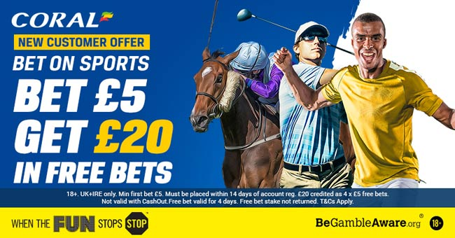coral horse racing free bet