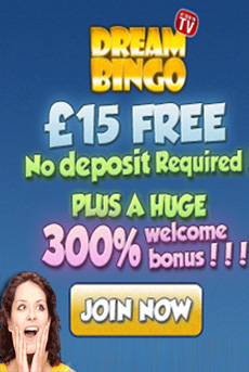 Dream bingo - £15 free