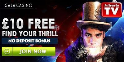 Gala Casino no deposit bonus