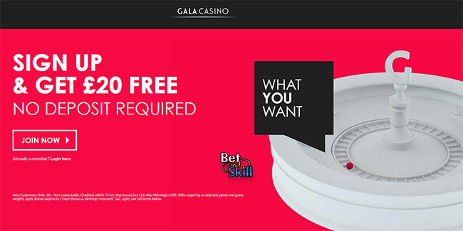 Gala Casino 20 pound free without deposit