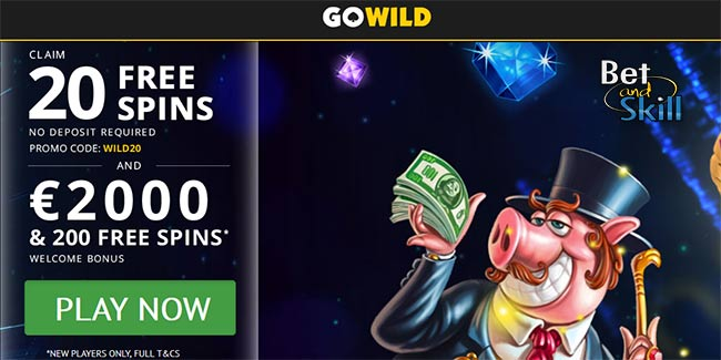 Go Wild Casino 20 No Deposit Free Spins 2000 Bonus