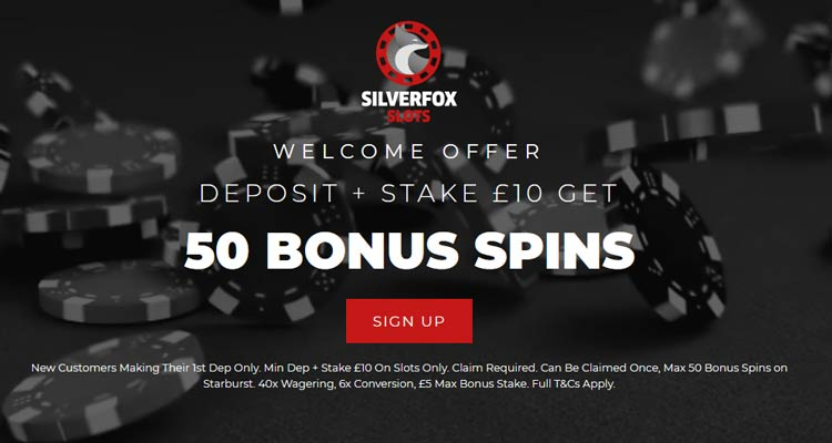 Silver Fox Slots 50 Bonus Spins On Starburst Betandskill