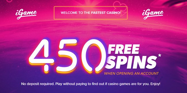 igame 450 free spins