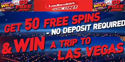 Ladbrokes Casino: get 50 free spins on Santa's Wild Ride and win a trip to Las Vegas
