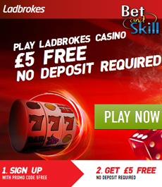 Ladbrokes Casino - £5 free no deposit required