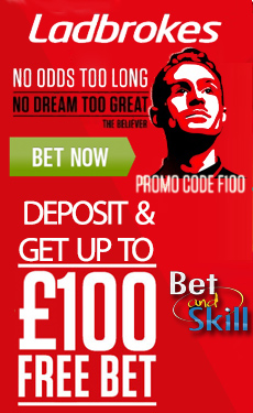 Ladbrokes betting £100 free bet