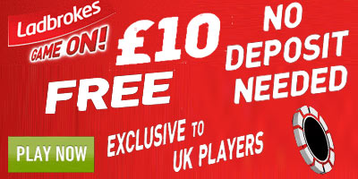 Ladbrokes Poker: 10 pound free to play - No Deposit required (UK only)