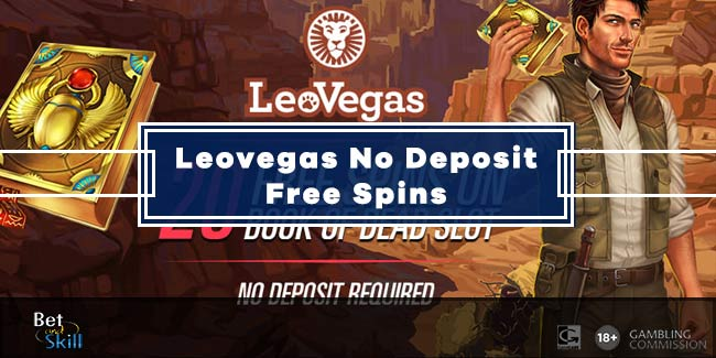 LeoVegas 10 No Deposit Free Spins on Book of Dead slot
