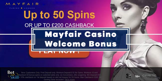 Mayfair Casino Bonus: 50 Free Spins On NetEnt Slots or 10% Cash Back