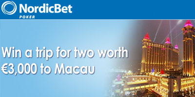 NordicBet Poker: win a Dream Trip for two to Macau