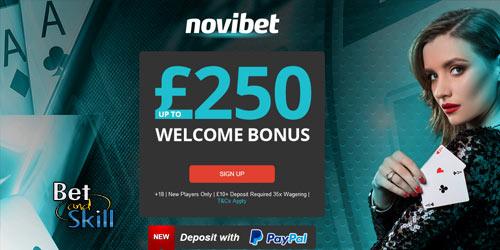 Novibet Casino £250 Bonus - No Promo Code Needed