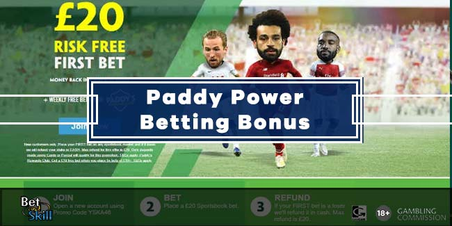 How to use your free bet on paddy power app sports betting online in nj