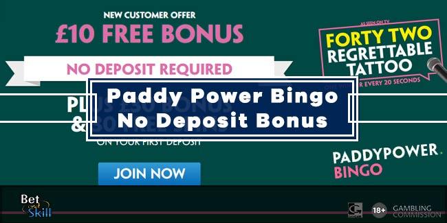 Paddy Power Bingo £10 No Deposit Bonus - AS SEEN ON TV!