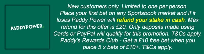 Paddy Power Free Bet Terms