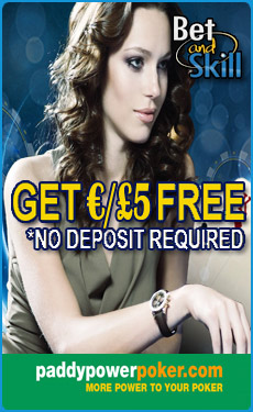 PaddyPower Poker £/€5 free - no deposit required