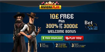Riviera Play €/$/£10 no deposit bonus - Get your casino free chips!
