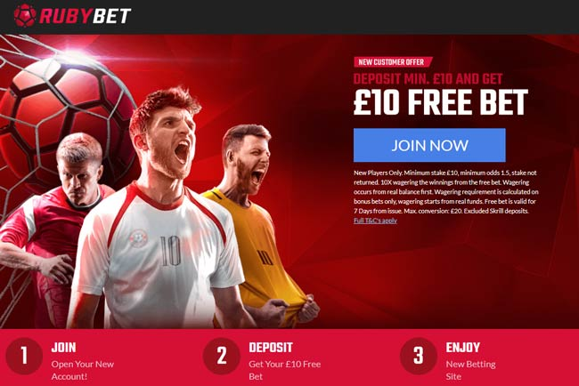 ruby bet betting bonus