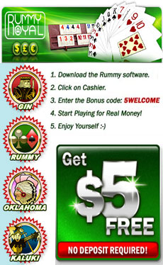 Rummy Royal no deposit bonus