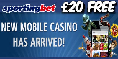 Sportingbet Casino: £20 bonus for new mobile players – No deposit required (EXPIRED)