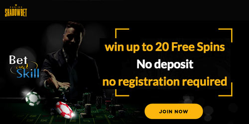 ShadowBet Casino - Win Up To 20 No Deposit Free Spins