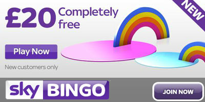 New Sky Bingo Welcome Bonus: £20 completely free (no deposit required)