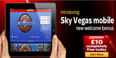 Sky Vegas launch Mobile Casino and an improved no deposit bonus