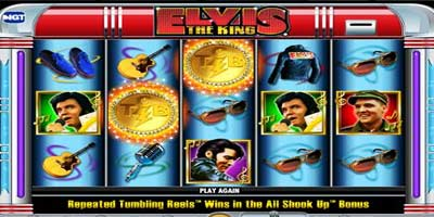 New IGT video slot released at Sky Vegas: Elvis the King. Try it with £10 free!
