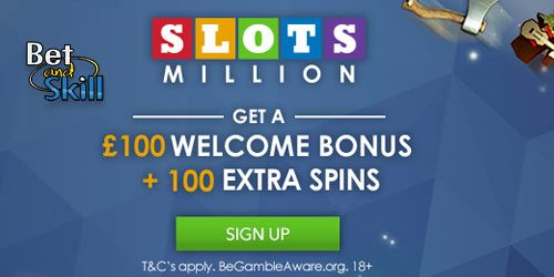 SlotsMillion Bonus: 100 extra spins + 100% on first deposit