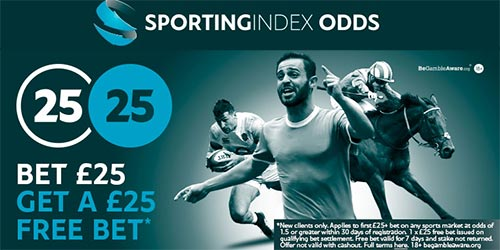 Sporting Index Fixed Odds Free Bets - Bet £25 Get £25