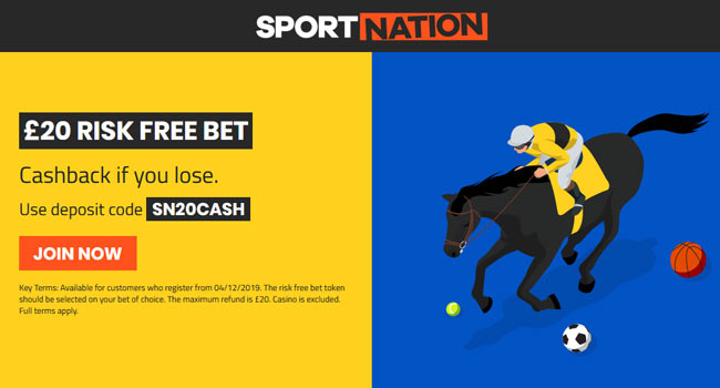 sportnation horse racing bonus