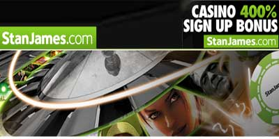 StanJames has just launched a brand new Casino. Get your £15 free bonus