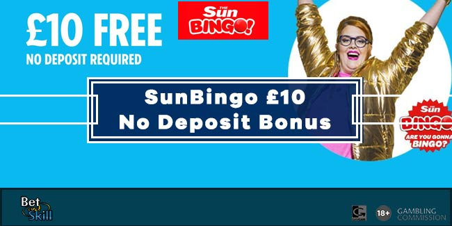 Sun Bingo £10 No Deposit Bonus - As Seen On TV