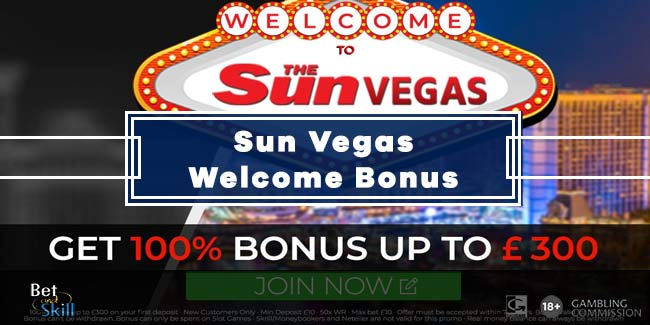 The Sun Vegas Bonus Code: 100% Up To £300