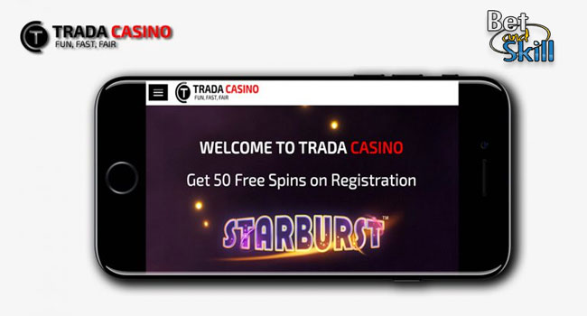 trada casino mobile free spins