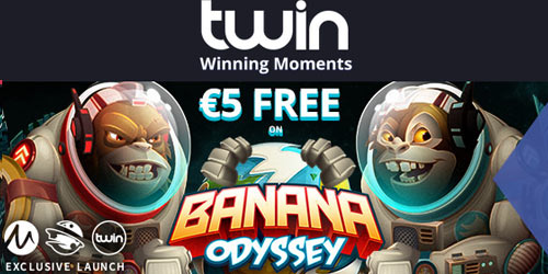 Twin Casino €5 Free No Deposit Bonus On Banana Odissey Slot