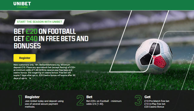 unibet betting bonus
