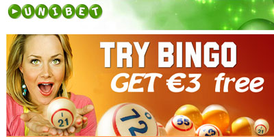 Unibet Bingo: over 35 bingo rooms, 150€ bonus and 3€ free