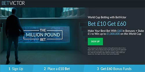 Bet £10 get £60 Free Bets at BetVictor (No Bonus Code Needed)