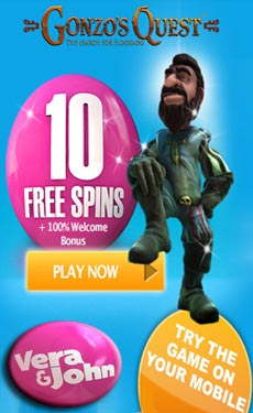 Vera&John casino 10 free spins no deposit required