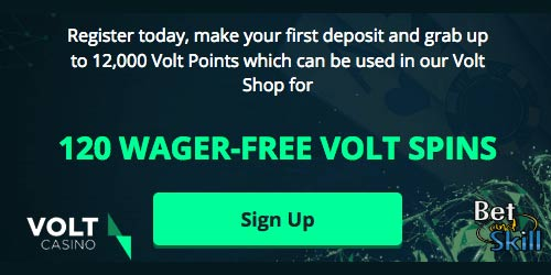 Volt Casino Offer Up To 120 Wager-Free Spins On Your First Deposit