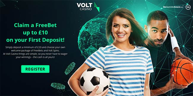 Volt Sports Free Bet - £10 On Your First Deposit