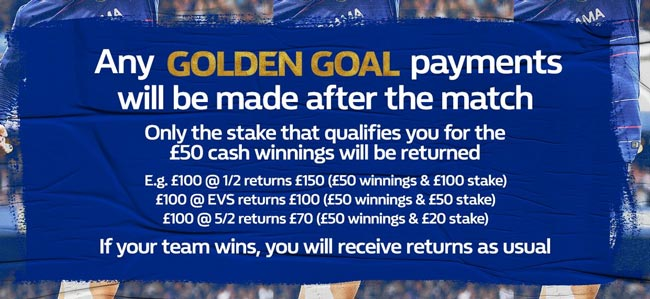 william hill golden goal payments