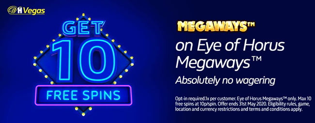 no deposit free spins william Hill vegas