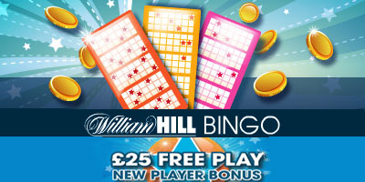 William Hill Bingo Review: £25 free welcome bonus