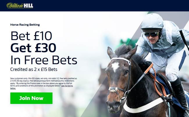williamhill horse racing free bet