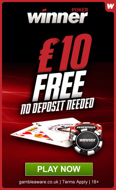 Winner Poker £10 free - no deposit required