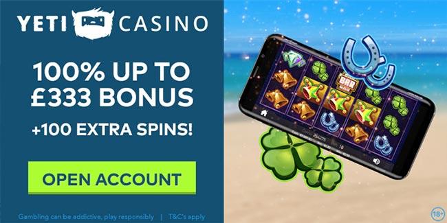 Yeti Casino 23 No Deposit Free Spins On Starburst Or Joker Pro