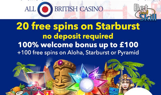 All Birtish Casino no deposit free spins