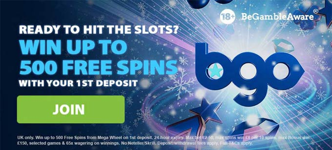 bgo wager free spins
