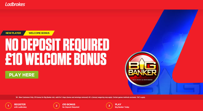20 no deposit free spins at Ladbrokes